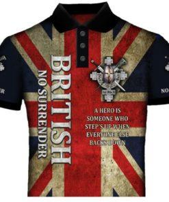 British No Surender Polo Shirt