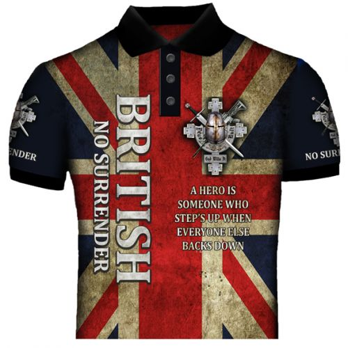 British No Surender Polo Shirt