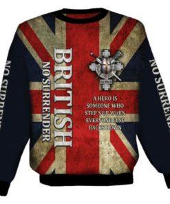 British No Surender Sweat Shirt