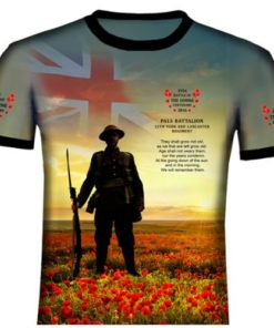 Pals Battalion (York and Lancaster) Poyester T Shirt