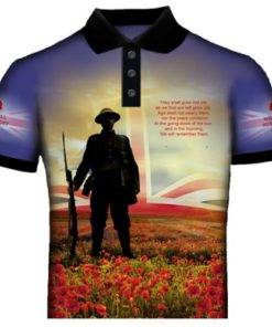 Blue British Remembrance Polo Shirt