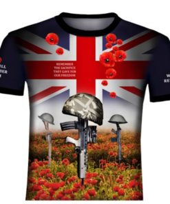 Poppy We Will Remember Them 2 T Shirt