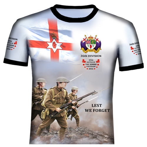 The Somme 36th Division Polyester T Shirt