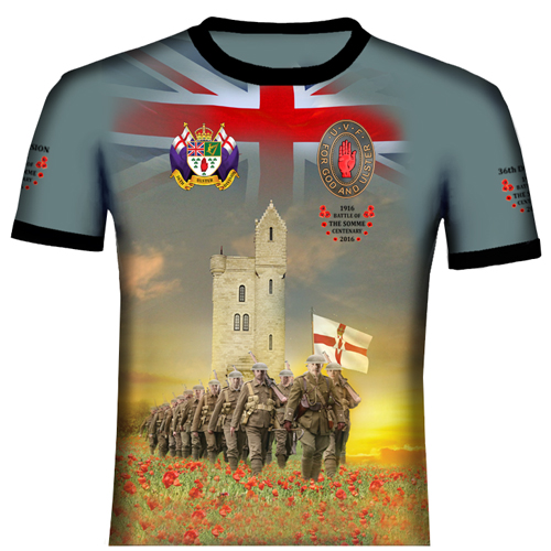The Somme Memorial Tower Polyester T Shirt