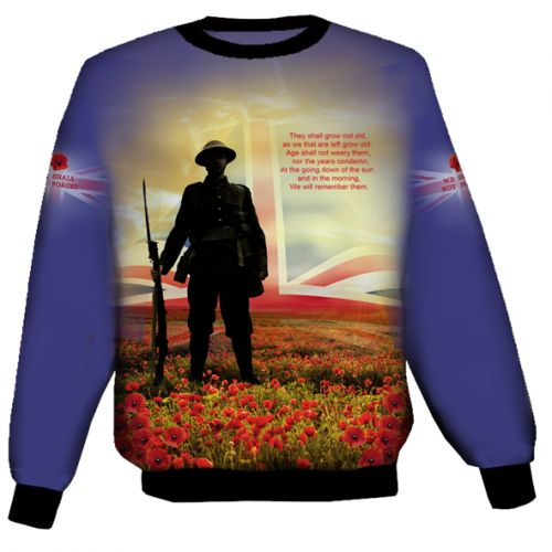 Blue British Remembrance Sweat Shirt
