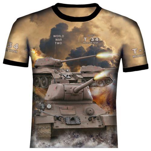 T-34 Tank Polyester T Shirt