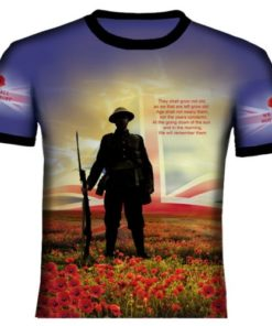 Blue British Remembrance T Shirt
