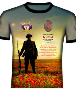 Ulster Somme We Shall Not Forget Polyester T Shirt
