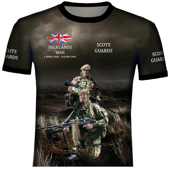 Scots Guards T Shirt  - Falklands