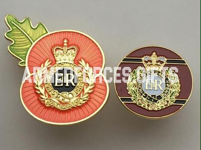 Royal Engineers Double Pin Badge