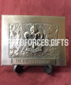 Kings Regiment Cast Plaque