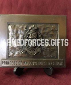 Princess of Wales Own Royal Regiment Cast Plaque